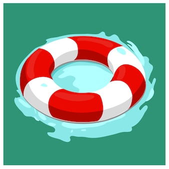 Vektor-illustration ein sicherheitsring für boot und schiff