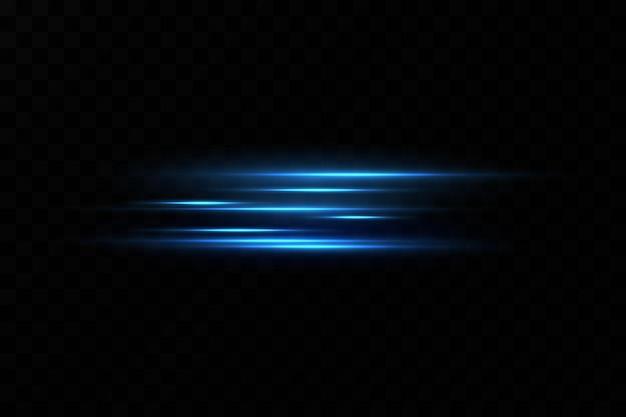 Vektor-illustration einer blauen farbe lichteffekt abstrakte laserstrahlen des lichts chaotische neonstrahlen