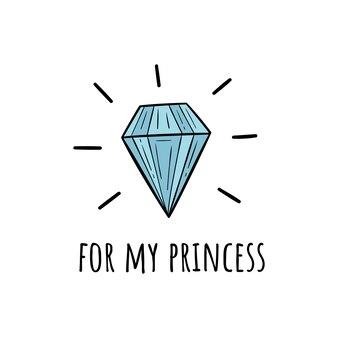 Vektor-illustration eines diamanten. skandinavische motive.