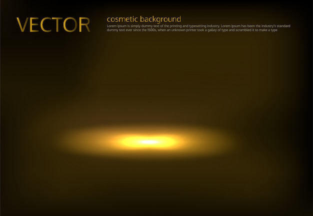 Vektor-illustration eines goldenen spot beleuchtet