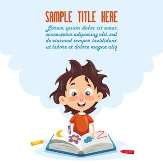Vektor-illustration eines kindermalbuches