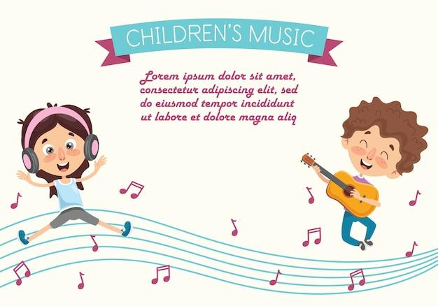 Vektor-illustration eines kindertanzens