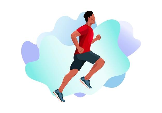 Vektor-illustration eines laufenden mannes läufer sportler sportler