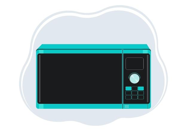 Vektor-illustration eines stilvollen mikrowellenherds in smaragdfarbe