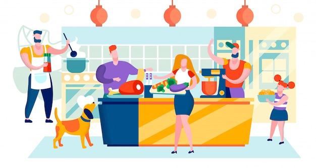 Vektor-illustration einkaufszentrum bereich cartoon.