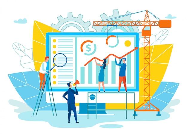 Vektor-illustration-erfolgreiche exekutivwohnung.