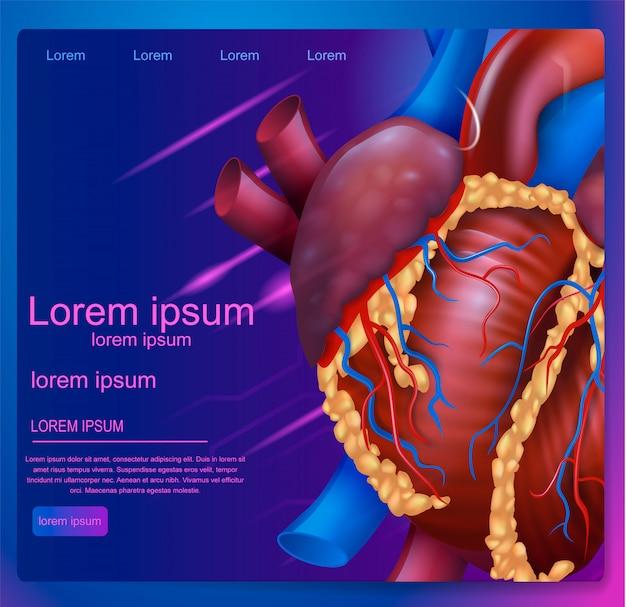 Vektor-illustration erweiterte realität in der medizin