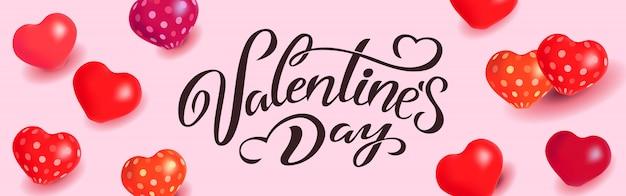 Vektor-illustration glückliches valentinstag-typografievektordesign für grußkarten und plakat