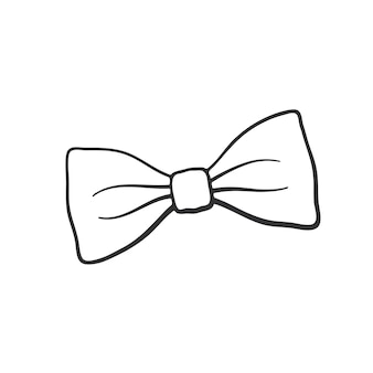 Vektor-illustration handgezeichnete doodle hipster retro-fliege vintage elegante fliege