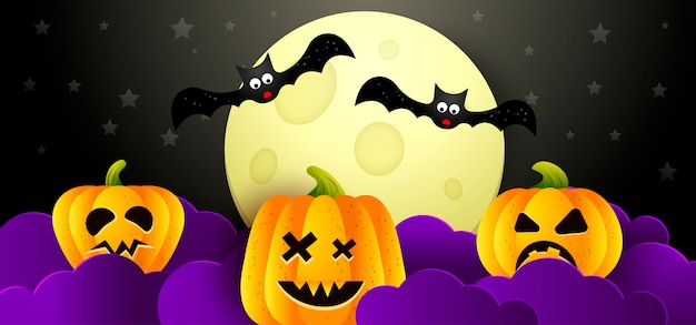 Vektor-illustration hintergrund halloween