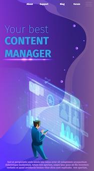 Vektor-illustration ihr bester content manager.