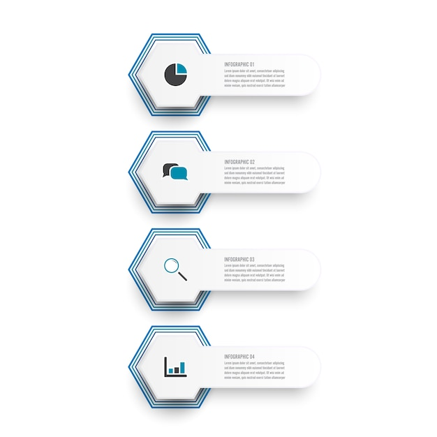 Vektor-illustration infografiken 4 optionen. vorlage