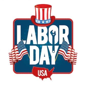 Vektor-illustration labor day ein nationalfeiertag der vereinigten staaten liebe zum heimatland und traditionen seiner leute