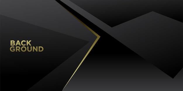 Vektor-illustration schwarz und gold abstrakten minimalistischen hintergrund
