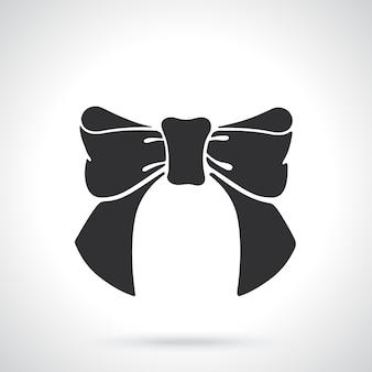 Vektor-illustration silhouette bowknot band vorlage oder muster dekoration
