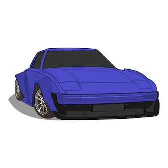 Vektor-illustration sportwagen mazda