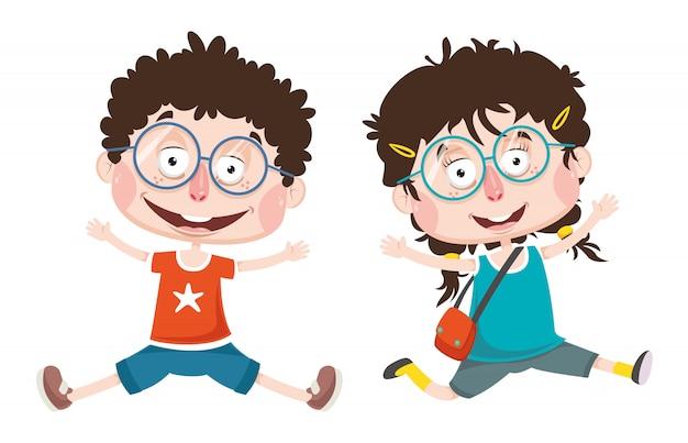 Vektor-illustration von abstrakten kindern