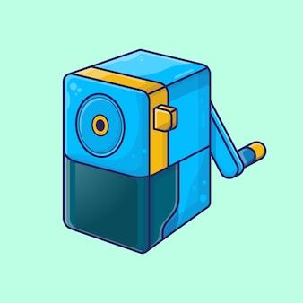Vektor-illustration von bleistiftspitzer mit cartoon-stil