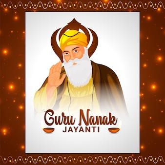 Vektor-illustration von guru nanak dev ji für glücklichen guru nanak jayanti