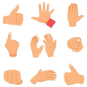Vektor-illustration von handgesten