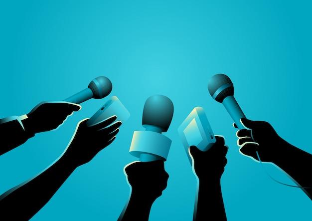 Vektor-illustration von journalisten