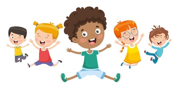 Vektor-illustration von kindern spielen