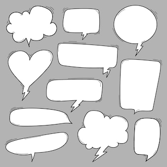 Vektor-illustration von komischen sprache-blasen