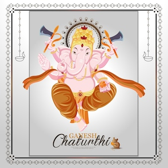 Vektor-illustration von lord ganesha für ganesh chaturthi