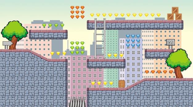 Vektor-illustration von spiel hintergrund