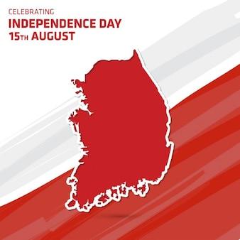 Vektor-illustration von südkorea karte independence day