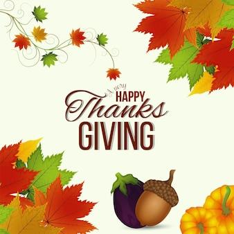 Vektor-illustration von thanksgiving day hintergrund
