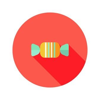 Vektor-illustration von weihnachtssüßigkeiten süße flache icon