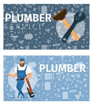 Vektor-illustrations-konzept-klempner-service