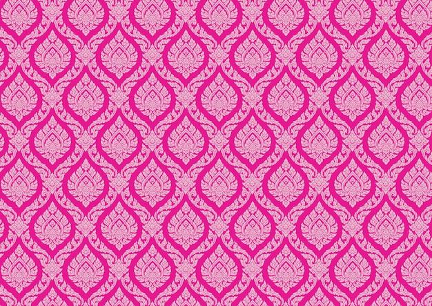 Vektor-illustrator der thailändischen musterweinlese rosa