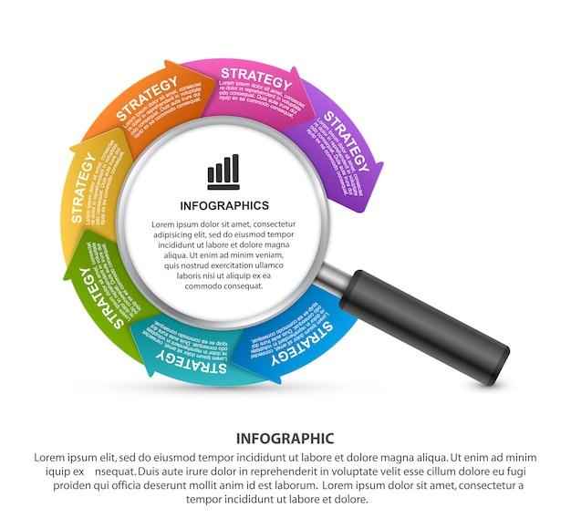 Vektor infografiken vorlage.