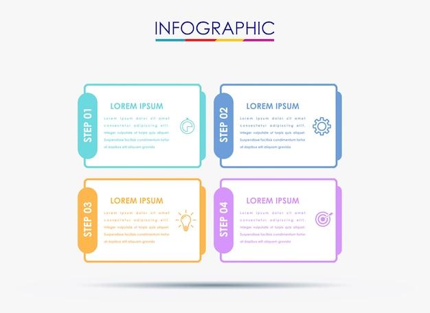 Vektor-infographic-aufkleberdesignschablone mit ikonen