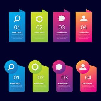 Vektor infographik designvorlage