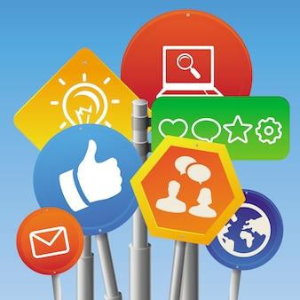Vektor internet-marketing-konzept