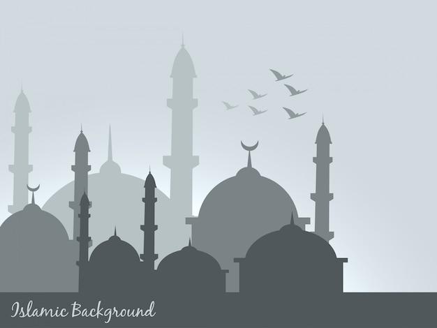 Vektor islamischen hintergrund design illustration