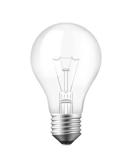 Vektor-isolierte realistische glühbirne über weiß