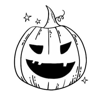 Vektor-jackolantern geschnitzter halloween-kürbis