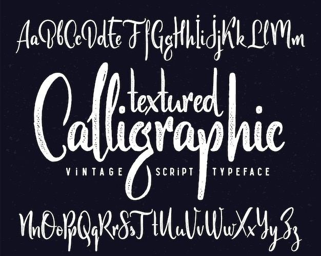 Vektor kalligraphischer schriftsatz