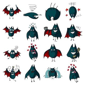 Vektor-karikatur-illustration des schlägersets.