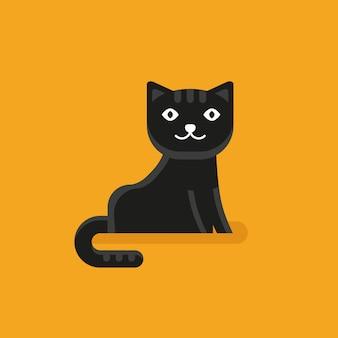 Vektor-katzen-symbol im flachen stil