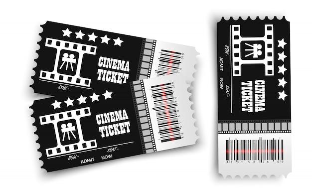 Vektor kinokarten isoliert. realistische kinokarte.