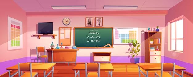Vektor klassenzimmer für das lernen der chemie