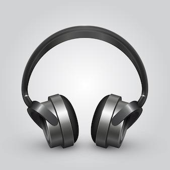 Vektor-kopfhörer-symbol hintergrund. vektorillustrationskunst Premium Vektoren