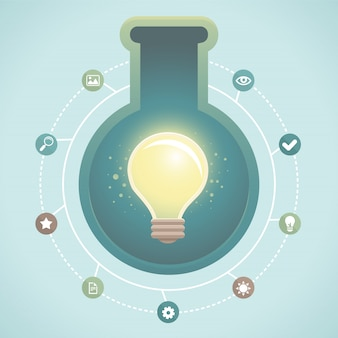 Vektor kreative idee infografik