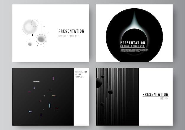 Vektor-layout der präsentationsfolien-design-business-vorlagen mehrzweck-vorlage für die präsentationsbroschüre-broschüren-abdeckung tech-wissenschaft-zukunftshintergrund-raumdesign-astronomiekonzept