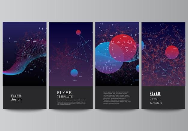 Vektor-layout von flyer-banner-vorlagen für website-design vertikale flyer-design website-dekoration ...